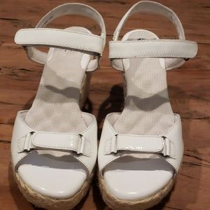 Size 9 Softwalk White Patent Leather Sandals